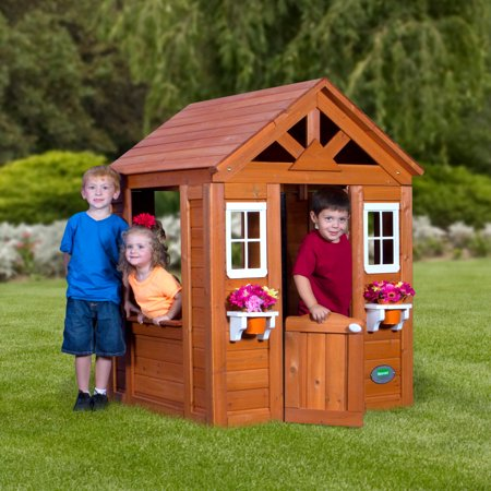 Wooden Playhouse – A Solid Place For Your Children To Play