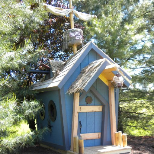 Childrens Wooden Playhouse - For Staying Cool Naturally